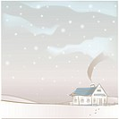 hill, season, snowing, snow, winter, house, background