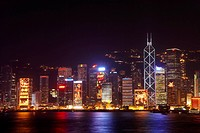 Hong Kong Victoria Harbour and city skyline