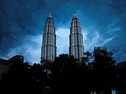 Storm Clouds Hanging over Petronas Towers, Kuala Lumpur