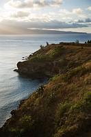 Pacific ocean with coastal cliff