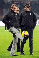 jean claude blanc and alessio secco,torino 24_01_2009 ,serie a italian football championship 2008_2009 ,juventus_fiorentina