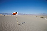 For Sale sign in desert. Sand Dunes Point, Death Valley National Park, California, United States of America, North America