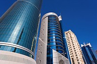 West Bay, Qatar´s financial and central business district, Doha, Qatar, Middle East
