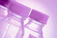 Close_up of water bottles