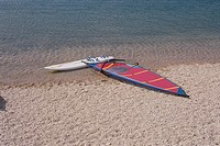 The Surfboard On The Sand