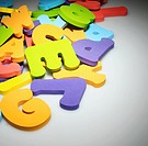 Stack of Rubber Alphabetical Letters (thumbnail)