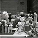 Leksaker På Marknad I New York, Toys On Market In New YorkB/W