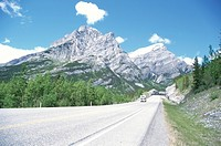 The Canadian Rockies And The Road