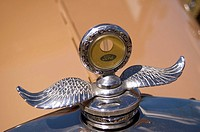 Antique automobile hood ornament, Belleville, Ontario, Canada