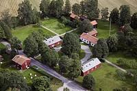 Erik Gustav Geijers Fädernegård Geijersgården I Ransäter, Värmland, Aerial View Of Farmhouse Amid Trees