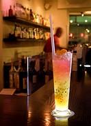 Drink På Restaurang Mården, Stockholm, Close_Up Of Wine Glass On Bar Counter At Restaurant