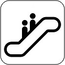 Escalator symbol, artwork