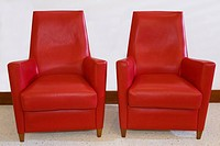Two armchairs in a living room