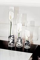 Close_up of three vases