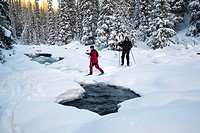 Skidtur I Höglekardalen I Oviksfjällen, People Skiing