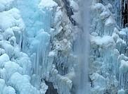 Frozen Untersulzbach waterfall Salzburg Austria