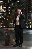Businessman with a suitcase (thumbnail)