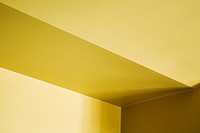 Yellow wall and ceiling architectural detail