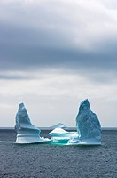 Icebergs. Icebergs are large pieces of freshwater ice that have broken off from a snow_formed glacier or ice shelf, and are floating in open water. Ni...