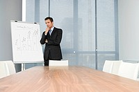 Businessman in meeting room