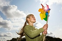 Girl with a pinwheel