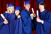 High school students graduating