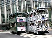 Trams at Central, Hong Kong