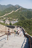Tourists climbing up at Badaling Great Wall, Beijing, China