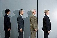 Businessmen Standing in Line
