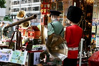 Antique shops on Cat Street, Sheung Wan, Hong Kong