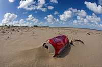LITTER ON BEACH. Holkham Beachm, North Norfolk Coast September