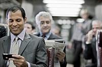 Commuter Using a PDA