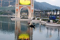 Gondola in the canal of The Venetian, Macau