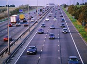 Motorway congestion _ M1. UK