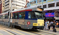 Light rail in Yuen Long, New Territories, Hong Kong