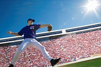 Pitcher throwing baseball (thumbnail)