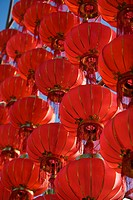 Red lanterns celebrating the spring festival, Dali, Yunnan Province, China