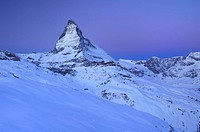 Matterhorn in Winter, Zermatt, Valais, Switzerland