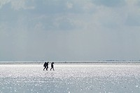 People walking at the Sea