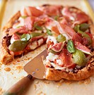 Serrano Ham, Mozzarella and Fig Tart