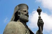 Statue of patriarch Makarios Lefkosia Nicosia Cyprus