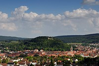 Tuttlingen an the ruin of honberg-castle - Baden Wuerttemberg, Germany, Europa