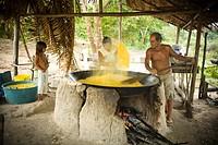 House of Flour, Boa Esperança Community, Cuieiras River, Amazônia, Manaus, Amazonas, Brazil