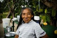 Senior woman, Barreirinha Community, Macaco River, Manaus, Amazônia, Amazonas, Brazil