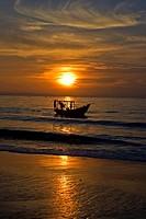Sunrise, beach of Mui Ne, Vietnam, Asia