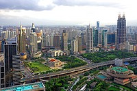 View of metropolis of Luwan District, Shanghai, China