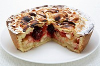 Fruit pie, a piece taken