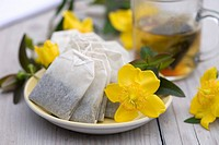 St. John´s wort tea bags with flowers