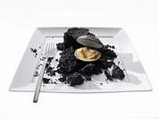 Shellfish baked in truffle salt