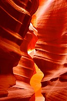 Rock formations, interior view, Antelope Canyon, Navajo Tribal Park, Page, Arizona, USA